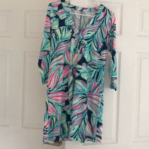 Lily Pulitzer long sleeve cotton dress XS